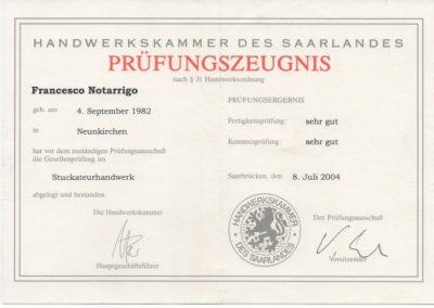 Gesellenbrief seit 2004