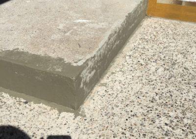 Vorher, Beton, brüchig und nicht schön