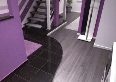 PVC- Designboden, Grau-Metall Effekt