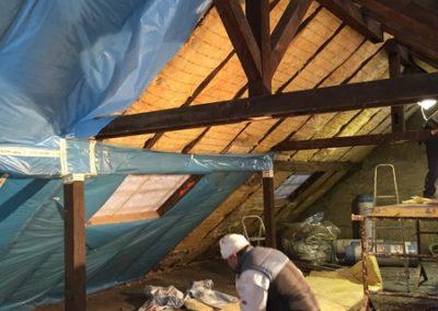 Dachgeschoss während des Umbaues