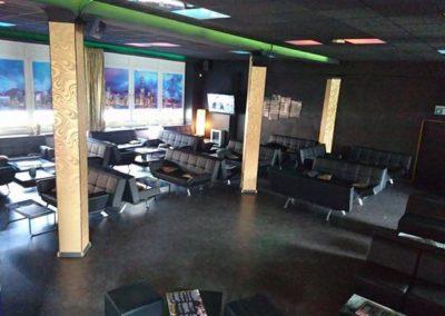 PEARLS COCKTAILS Shisha Club in Neunkirchen, Innenausbau, Anstrich, Akkustikdecken mit indirekter Beleuchtung