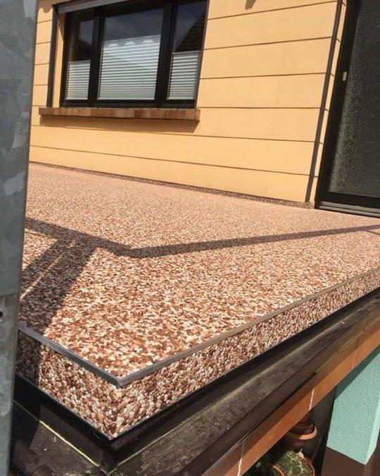 Der Sommer kann kommen. Neuer Terrassenbelag aus Natursteinen! Kunde sehr zufrieden, wir zufrieden!