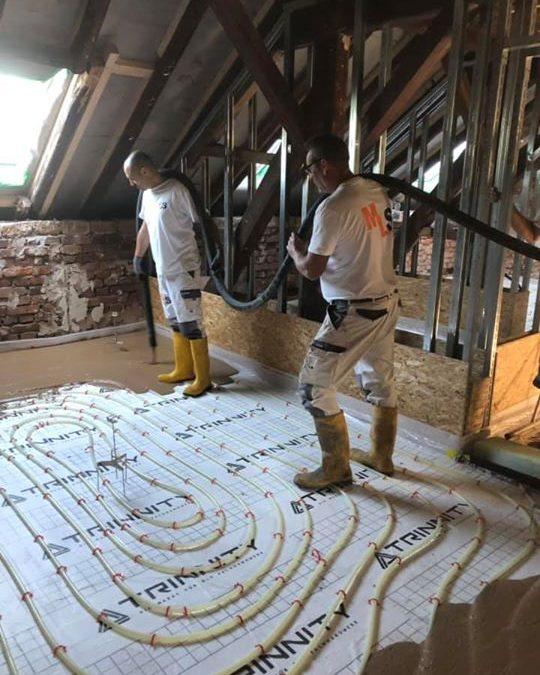 Fließestrich auf Fußbodenheizung verlegt! Inkl. Vorarbeit und Planung! ⭐️⭐️⭐️⭐️⭐️ Auch das machen wir!!!