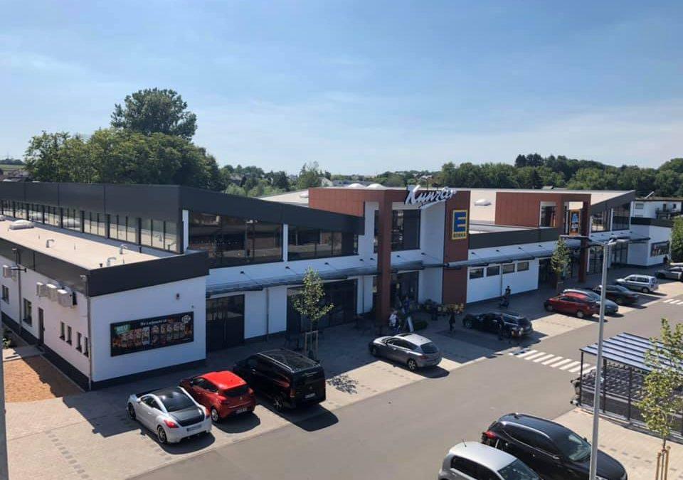 2019 Gewerbliches Großprojekt in Saarwellingen, Einkaufszentrum von der Firma Kunzler Fleischwaren mit Edeka- und Aldi Markt. Dieses Projekt wurde von der F